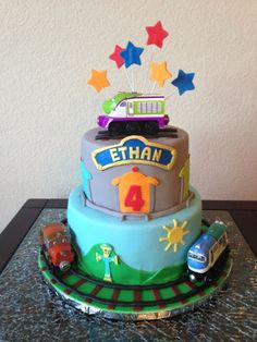 Some People Ask For Chuggington Theme Found This In The Old - Chuggington birthday cake