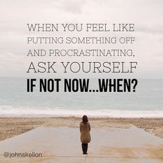 http://ift.tt/1trtD00 Many of us will have procrastinated to some degree or other.  Choosing that next episode of our favourite program instead of prepping our food or getting to the gym.  A little tip I have picked up when I feel this way is to say... 'If not now when?' Say this and make your mind think about when else you could do the task and more often than not you'll find that 'when' is 'NOW' and you'll do the task straight away.  It may take a couple weeks to build it as habit. Join me…