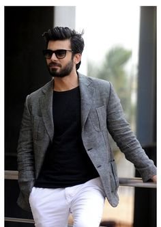 Don't want to be only eye-candy in films: Fawad Indian Men Fashion, Mens Fashion Suits, Boy Fashion, Fashion Black, Men Dress Up, Formal Men Outfit, Outfits Hombre, Moda Casual, Groom Wear