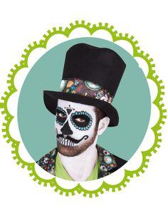 Déguisement Dia de los muertos homme Halloween-1