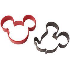 Disneys Mickey and Minnie Mouse Cookie Cutter Set by JazzyAppleGal, $6.98 Mickey Mouse Cookies, Disney Cookies, Mickey Mouse Parties, Mickey Ears, Mickey Mouse Birthday, Mouse Ears, Cookie Cutter Set, Microwave Oven, Baking Pans