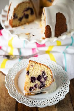 Blueberry Buttermilk Bundt Cake » Table for Two