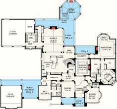 I really don't like the European style of this but love the layout and 2 garages