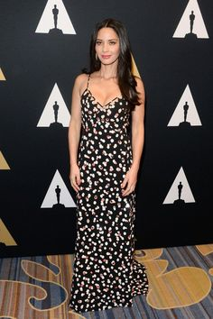 Olivia Munn wore a printed #Altuzarra Pre-Fall'16 gown to the AMPAS' Scientific & Technical Awards over the weekend.