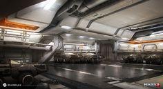 spaceship interior concept art - Google Search