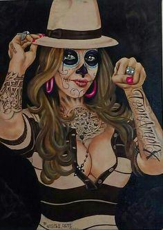 By Mr. NiteOwl Aztecas Art, La Art, Chicano Tattoos, Chicano Art, Azteca Tattoo, Pin Up, Cholo Style, Latino Art, Lowrider Art