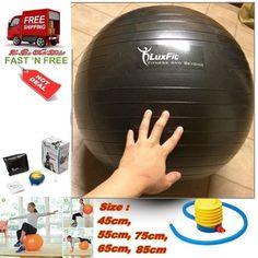 Ball Exercise Yoga Sport Gym Free Foot Pump Anti Burst Slip Resistant 55Cm-85 Cm #LuxFit