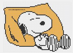 Snoopy pattern by on DeviantArt Beaded Cross Stitch, Cross Stitch Baby, Crochet Cross, Cross Stitch Embroidery, Cross Stitch Designs, Cross Stitch Patterns, Stitch Cartoon, Cross Stitch Boards, Snoopy And Woodstock