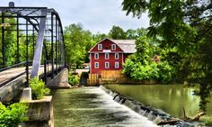 War Eagle Mill, Rogers Arkansas - This mill in Rogers has been operational for over 170 years, and is the only water powered grist mill in the U.S.This particular structure is the fourth one built on this site.The first was destroyed by flooding,and the second and third,by fire! During the Civil War the Confederates burned it down to keep the Union Army from using it! They also burned both the city of Rogers and Fayetteville,the first cities burned during the war in the U.S. - by mike daniel