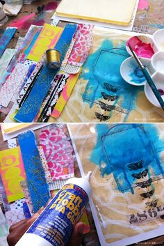 how to make collage glue