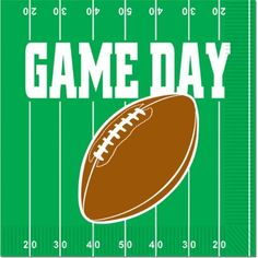 Game Day Football Luncheon Napkins (2-Ply) Party Accessory  (1 count) (16/Pkg) by The Beistle Company. $5.39. Paper Material. Size is 6.5-Inch. 16 per package. Paper. Party Accessory. Tableware Pattern. Game Day Football Luncheon Napkin, Size Measures to 6.5-Inch by 6.5-Inch, Tableware Pattern, Paper Luncheon Napkins, Sixteen per Package.