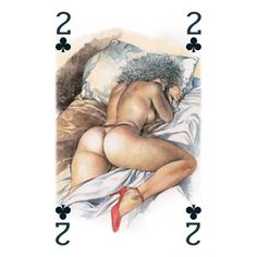 Playing cards with fantasy naked pictures your place