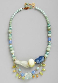 By the Sea Glass Necklace - Mint, Multi, Solid, Beads, Luxe, Statement, Pastel, Best, Wedding