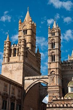 Italy Travel Inspiration - Palermo Cathedral, Sicily, Italy FROM: Archi e Torri della Cattedrale | Flickr - Photo Sharing!