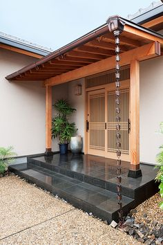 A flat quiet living quietly while enjoying the seasonal taste Japanese Home Design, Japanese Style House, Traditional Japanese House, Japanese Interior, Korean Traditional, Asian Architecture, Architecture Design, Sustainable Architecture, Residential Architecture