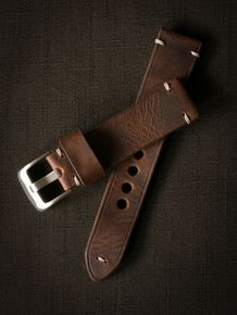 """Gregor"" Mahogany Handmade Leather Watch Strap"