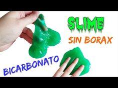 Como Hacer SLIME casero SIN BORAX con Bicarbonato - YouTube
