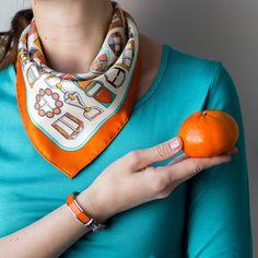 Hermes Carre en Boucles and Hermes Clic H bracelet