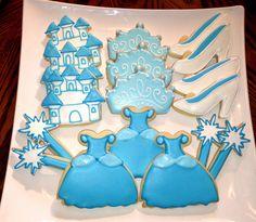12 Cinderella fairy tale princess cookies. via Etsy.