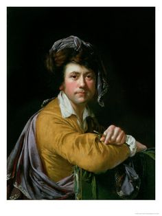 Self Portrait at the Age of About Forty, c.1772-3  by Joseph Wright of Derby