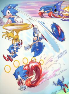 Classic Sonic Dump by Robaato on DeviantArt Sonic Fan Art, Sonic The Hedgehog, Female Superheroes And Villains, Sonic Underground, Bff, Nintendo, Classic Sonic, Sonic Franchise, Best Of Tumblr