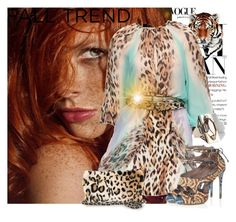 """Wild with Prints !"" by mercanici ❤ liked on Polyvore featuring Angelo Marani, Tabitha Simmons, Vince Camuto, Jofama, Lumière, animal print, animal print bags, sheath dresses, angelo marani and multi-strap heels"