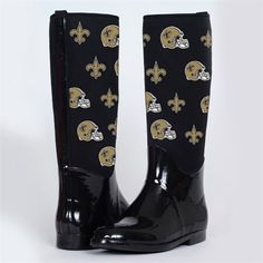 Women's New Orleans Saints Cuce Shoes Black Crusader High Heel Bootie