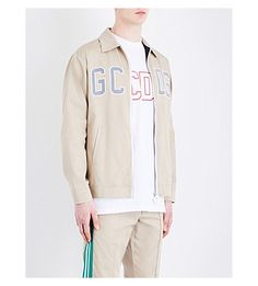 GCDS Logo-Detail Shell Jacket. #gcds #cloth #coats & jackets