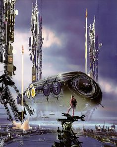 Do you fucking love science fiction? We Live In The Future News Image by John. Sci Fi Fantasy, Fantasy World, Daily Fantasy, Fantasy Images, Powerful Art, Sci Fi Ships, Futuristic City, Alien Worlds, Illustration