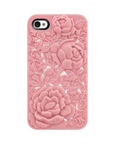 Unique Design Pink Rose Embossing Case for iPhone