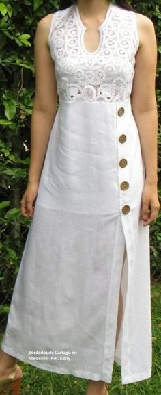 Summer dress sewing pattern new looks Ideas Designs For Dresses, Dress Neck Designs, Blouse Designs, Kurta Designs Women, Salwar Designs, Kurta Neck Design, Kurti Sleeves Design, Linen Dresses, Casual Dresses