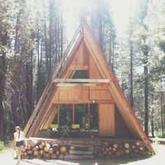 "thecountryfucker: ""#Dreamhouse An #A-frame in the #Yosemite National Forest. """