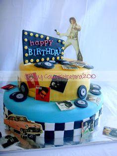 Cakes, et cetera..: 2 tiered Elvis Presley Cakes