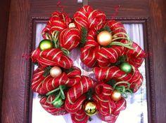 Christmas wreath by joyce