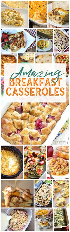 I LOVE breakfast casseroles! Makes hosting overnight guests so easy! Check out all of these amazing breakfast casseroles recipes!