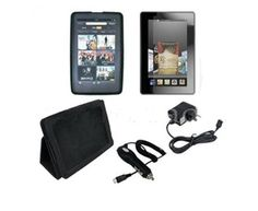 """Tsir Tech® Perfect 5 item Accessory Bundle Kit for New Amazon Kindle Fire, Full Color 7"""" Multi-touch Display, Wi-fi (Does not fit Kindle Fire HD) by Tsir Tech®. $10.95. 5-Item Accessory Bundle for New Amazon Kindle Fire  Bundle Kit for Your Kindle Fire Touch Tablet Includes: Black Folding Case with Kick Stand 2X Screen Protector USB Car Charger Wall Charger"""