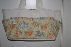 Cream flannel paired cotton animals, this bag is super soft and was a perfect choice for Miss Clementine