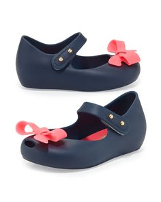 Melissa Shoes Mini Ultragirl Bow Jelly Flats