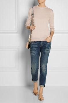 Miu Miuruffle-trimmed cashmere and silk-blend sweater 945/472/378