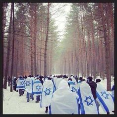 """March of Living"" near Auschwitz"