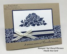 Stamping to Share: How to Make a Floral Phrases Thank You Card with How To Video