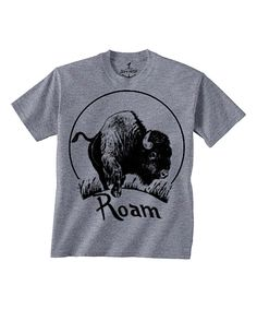 Look at this Skip N' Whistle Gray 'Roam' Buffalo Tee - Toddler & Kids on #zulily today!