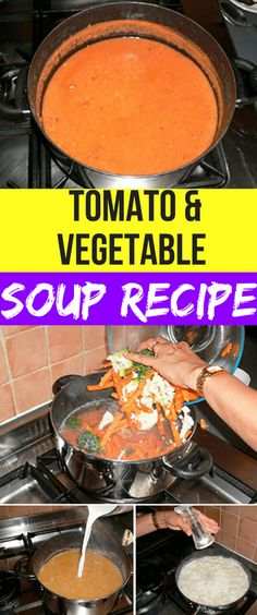 TOMATO AND VEGETABLE SOUP RECIPE – Healthy Thunder