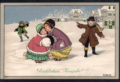 Pauli Ebner Postcard - Natale Christmas Bambini Children - Viaggiata - EB237