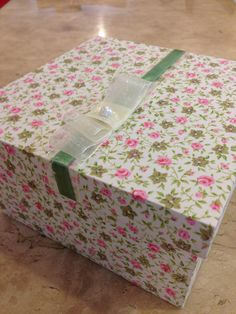 caixa revestida Floral