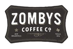 ZOMBYS Coffee logo type hand lettering grain graphic design badge