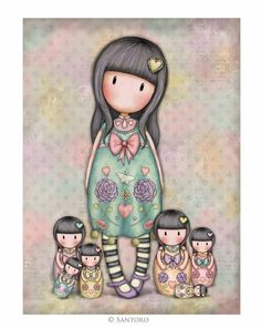 Gorjuss Cards - Seven Sisters