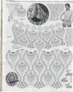 "crochet pineapple fashion for ladies: crochet lace tunic crochet patterns """" """" Crochet Doily Rug, Crochet Shirt, Thread Crochet, Knit Crochet, Pineapple Crochet, Pineapple Pattern, Pineapple Top, Crochet Diagram, Crochet Woman"