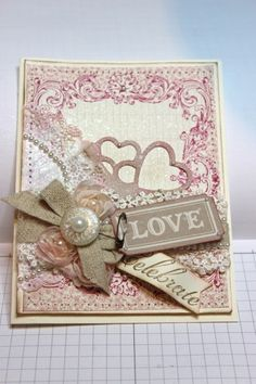 Valentine/Wedding card I cased from Heather Klump