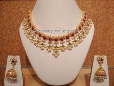 Pota Ruby Gottapusalu Necklaces - Jewellery Designs